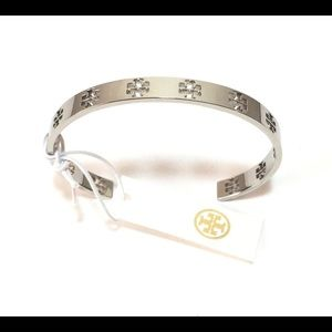 TORY BURCH SIGNATURE PIERCED BRACELET WITH BAG